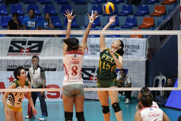 FEU overcomes Lyceum in four sets, dashes Ateneo's semis hopes in PVL Collegiate Conference