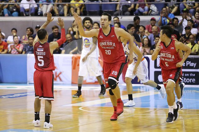 Ginebra serves payback with 27-point beatdown over TNT in sizzling semis series opener