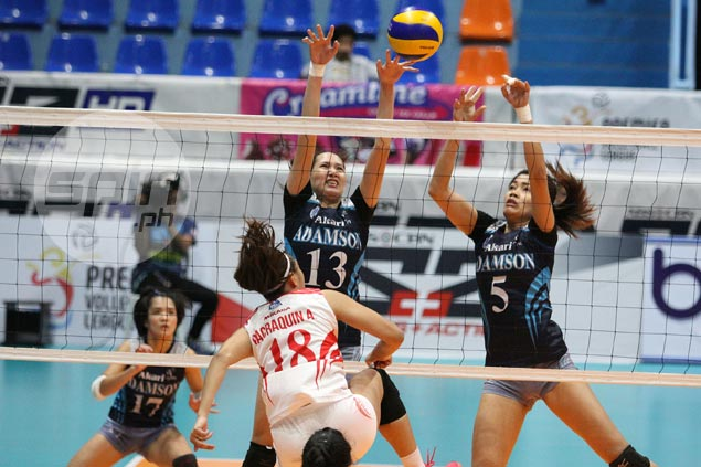 Galanza-less Adamson outlasts San Beda to complete elims sweep, seal PVL semis duel vs FEU