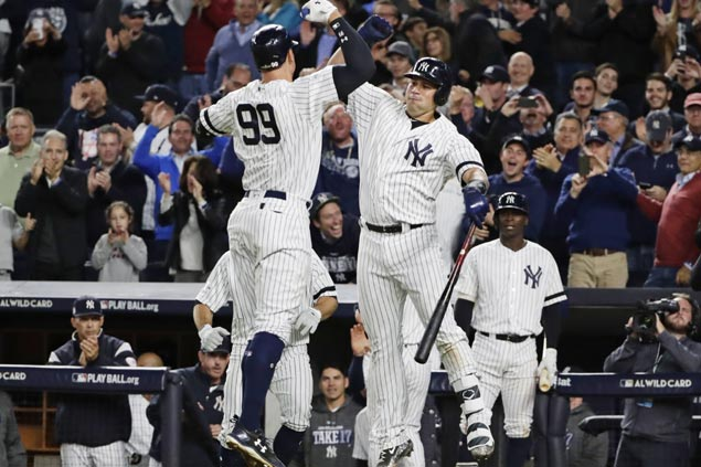 Aaron Judge, steady bullpen carry Yankees past Twins in AL wild-card to face Indians in ALDS