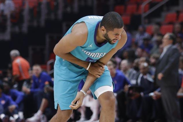 Nicolas Batum sprains elbow early, Malik Monk leads late rally as Hornets defeat Pistons