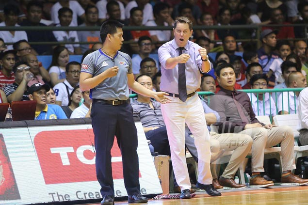 Tim Cone fined for entering the court during Japeth Aguilar-Gabby Espinas quarterfinal scuffle