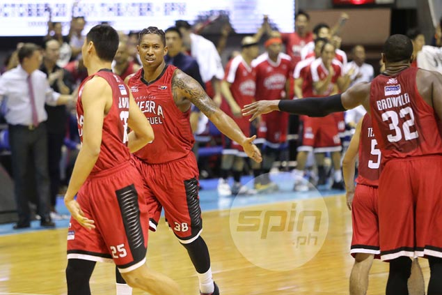 Joe Devance not bothered with officiating, says more fouls a result of aggressive TNT defense
