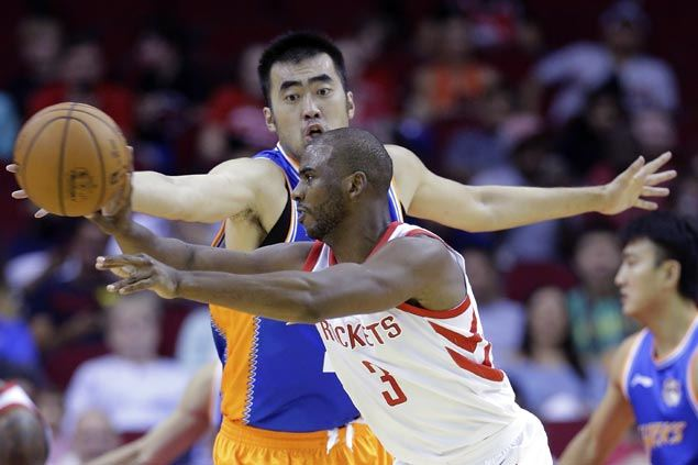 Chris Paul enjoying transition in Houston as Rockets dismantle Fredette-less Shanghai Sharks