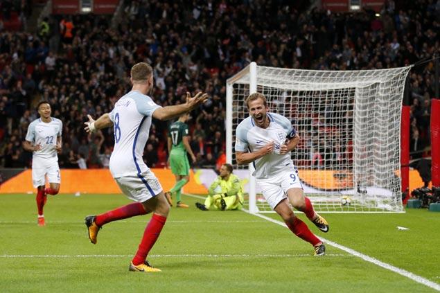 Harry Kane nets late winner as England nips Slovenia to secure spot in World Cup
