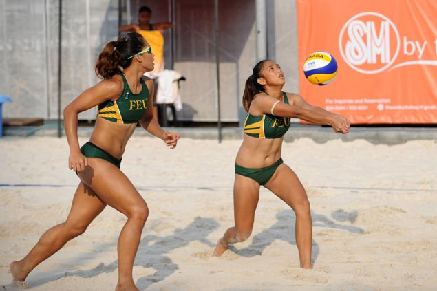 UST's Rondina-Viray tandem, FEU's Pons-Atienza duo stay unscathed in UAAP beach volley