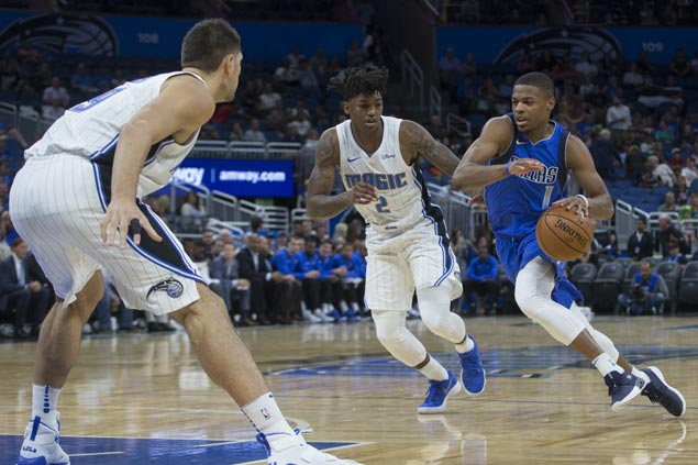 Rookie Dennis Smith Jr. shines in loss as Magic pounds depleted Mavs for first preseason win