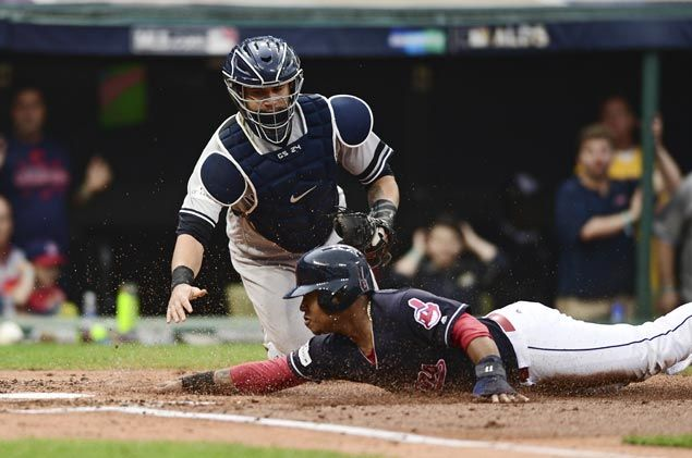 Indians edge Yankees in 13 innings to close in on AL Championship Series