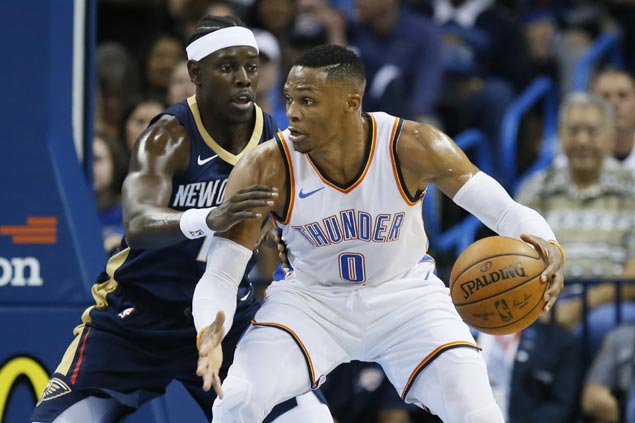 OKC stellar trio Westbrook, George, Anthony make winning debut in preseason win vs Pelicans