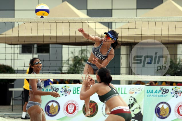 UST, FEU dispatch respective foes to keep slates unblemished in UAAP beach volleyball