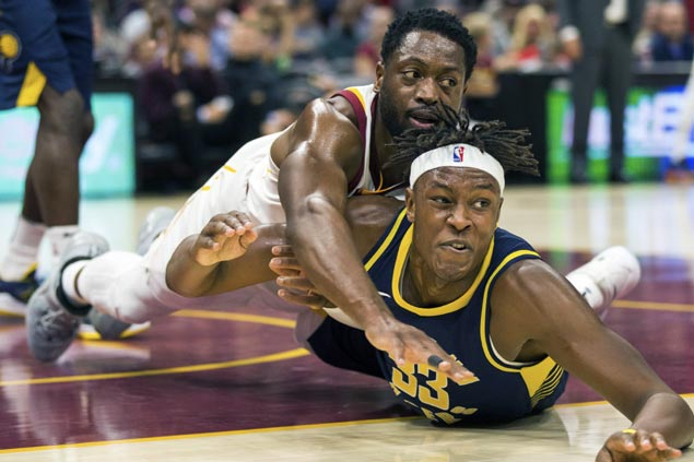 Pacers spoil vintage Wade, Rose games as reserves lead comeback win over LeBron-less Cavs
