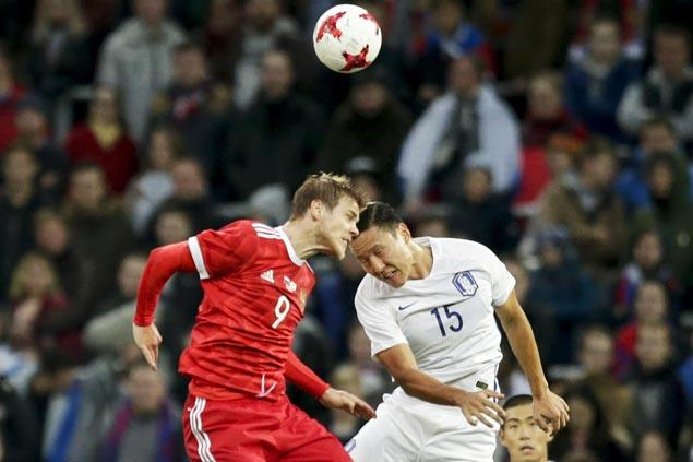 Russia scores big win as South Korea defender concedes two own goals in friendly