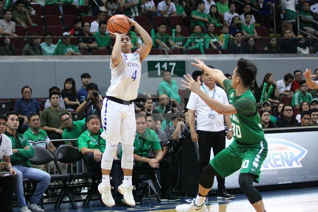 Blue Eagles squander big lead but recover to beat Archers and complete first-round sweep