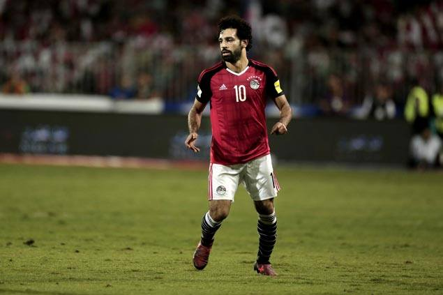 Mohamed Salah injury time free kick goal powers Egypt over Congo and into World Cup