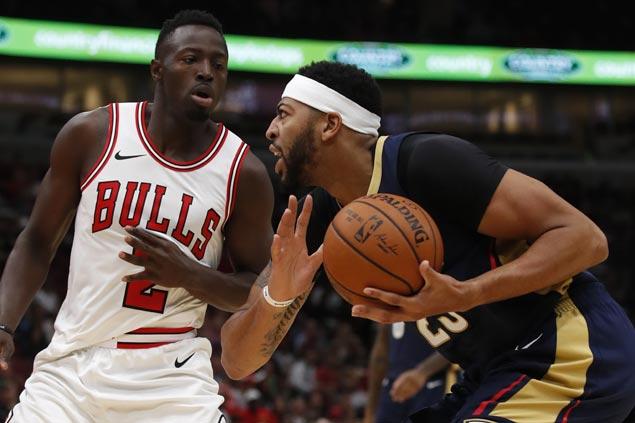 Anthony Davis' huge double-double, Cousins' near triple-double power Pelicans over Bulls