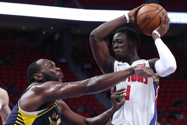 Pistons claw back from 16 points down to hand Pacers first preseason loss