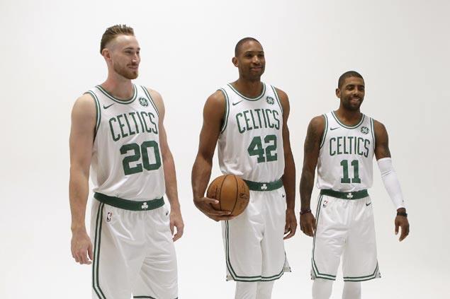 Boston parades new Big Three as Celtics continue pursuit of the Cavs
