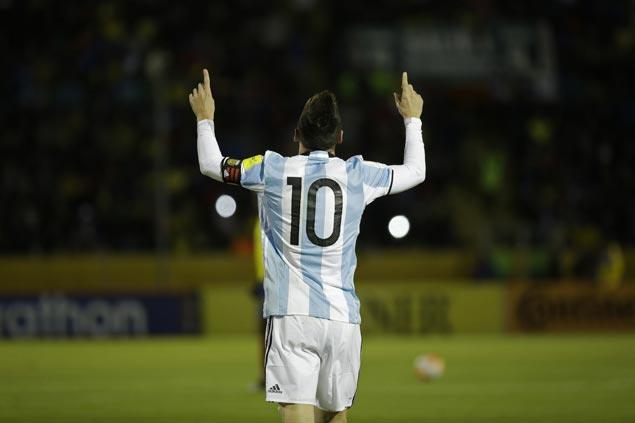 Argentina gains World Cup spot on last day of qualifying as Lionel Messi fires three past Ecuador