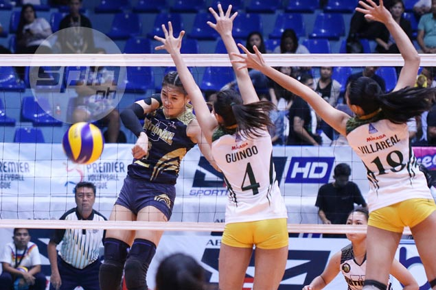 NU Lady Bulldogs grind out win over FEU Lady Tamaraws to inch closer to PVL crown