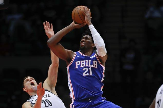 Wealthy and healthy, Joel Embiid makes solid preseason debut as Sixers rip Nets