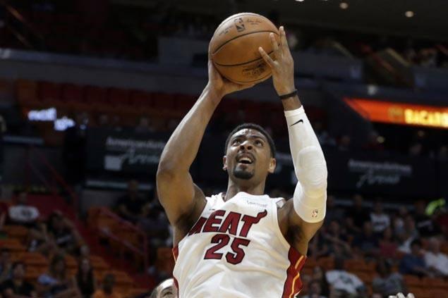 Jordan Mickey hits last-gasp triple to lift Miami Heat over Washington Wizards