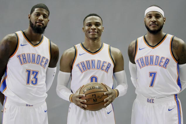 OKC Big Three locked in for one goal: 'Guys will do what needs to be done to win a championship'