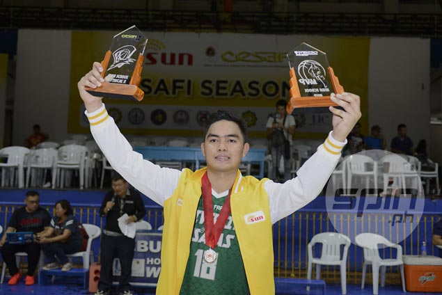 Cesafi MVP Beirn Laurente driven to work harder after perfect season for champs Baby Lancers