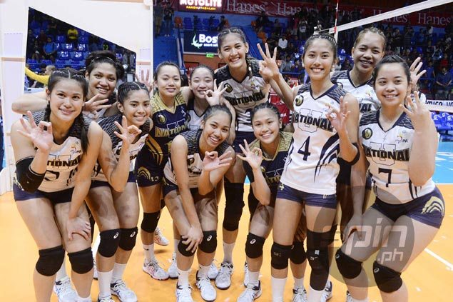 NU Lady Bulldogs sweep FEU Lady Tams for unbeaten run to PVL Collegiate Conference title
