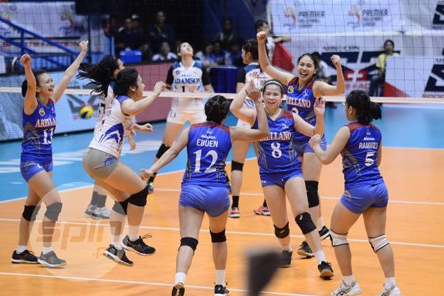 Arellano Lady Chiefs overcome gritty Adamson stand to end up third in PVL Collegiate Conference