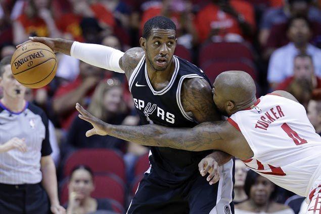 Kawhi Leonard to miss season opener due to thigh injury as Spurs beat Rockets in preseason finale