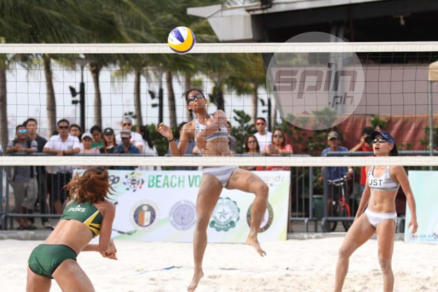 UST pair Rondina, Viray deny FEU's Pons, Atienza in perfect run to retain UAAP beach volley crown