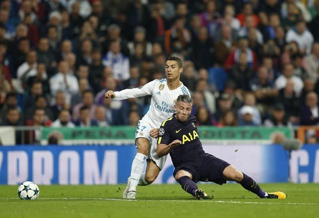 Spurs get ahead early but Real Madrid salvages home draw in Champions League