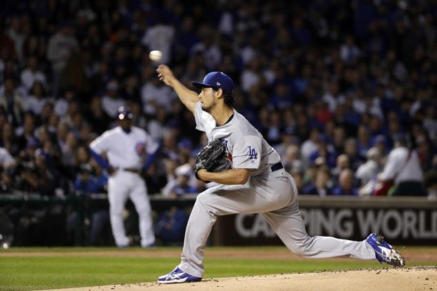 Yu Darvish solid again on the mound and Dodgers are one win away from World Series