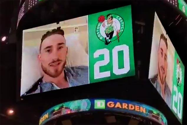 Gordon Hayward set for surgery, tells Celtics teammates and fans: 'I'm going to be all right'