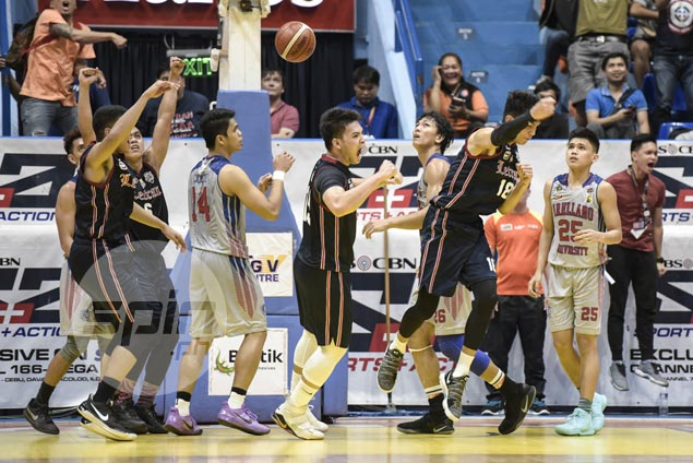 Ambohot putback ousts Arellano as Letran earns playoff vs Stags for last Final Four spot