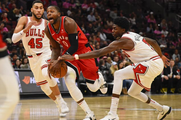Raptors ride second quarter blitz to emphatic season opening win over Bulls