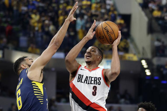 CJ McCollum powers Blazers to victory over Pacers squad missing Myles Turner