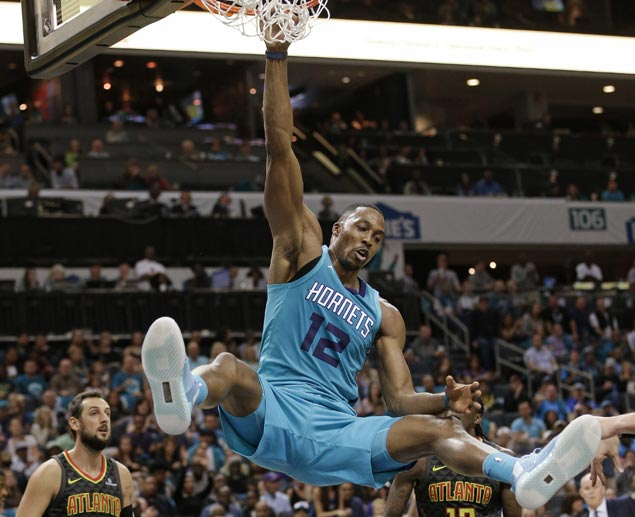Dwight Howard stars as Hornets erase 20-point deficit to beat Hawks