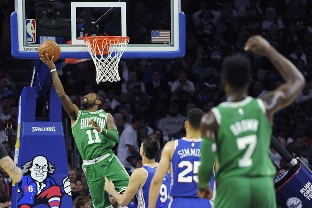 Irving powers Celtics past 76ers for first win of season as Embiid has one of his worst games as a pro