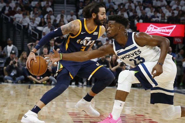 Timberwolves hold off late Jazz rally to spoil Ricky Rubio's return to Minnesota