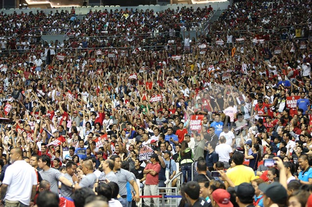 Game Five of Ginebra-Meralco series draws finals-record 36,445 fans to PH Arena