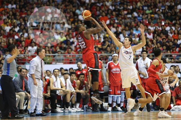 Justin Brownlee raring to finish off Meralco in Game Six. Sounds familiar?