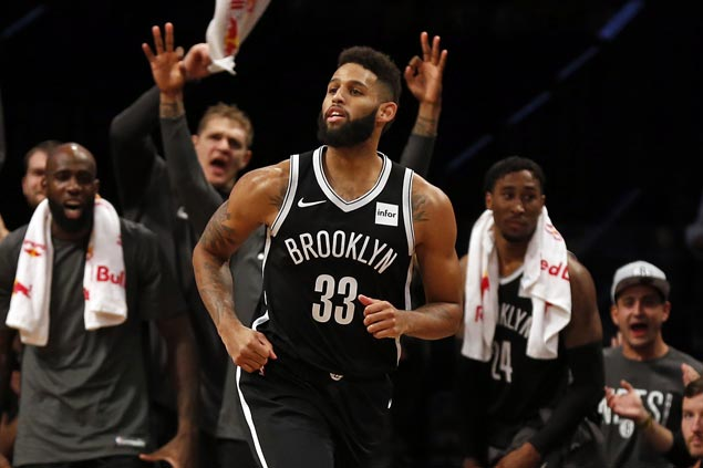 Allen Crabbe, on minutes restriction, pours it on in endgame as Nets get a win run going