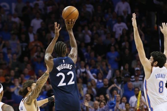 Andrew Wiggins beats buzzer with long triple to lift Timberwolves over Thunder