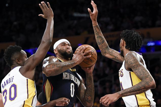 Brow and Boogie show rescues Pelicans as Clarkson-led Lakers comeback falls short