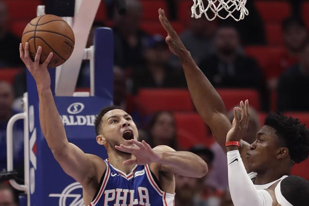 Ben Simmons posts triple-double as 76ers beat Pistons for first win of season