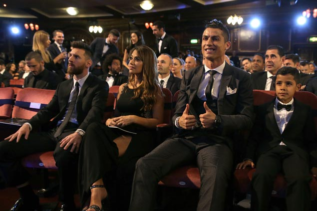 Cristiano Ronaldo named Fifa best player for the fifth time, matching Lionel Messi