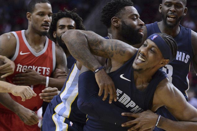 Grizzlies cool down Rockets in heated endgame as unbeaten Memphis deals Houston's first loss