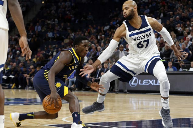 Pacers take huge lead early, overcome mid-match slip to defeat Butler-less Timberwolves