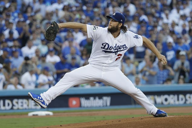 Clayton Kershaw dominates Astros batters as Dodgers take sweltering World Series opener